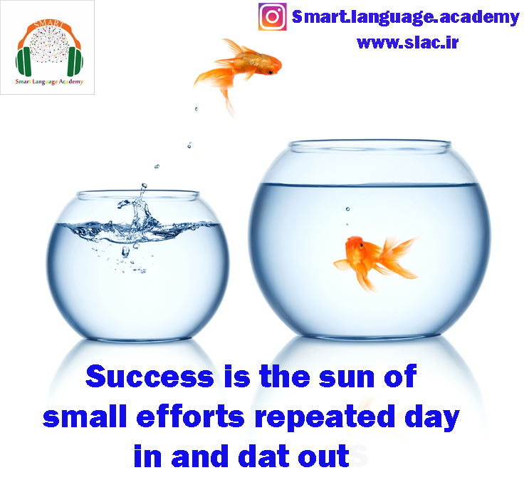 Success is the sun of small efforts repeated day in and dat outS